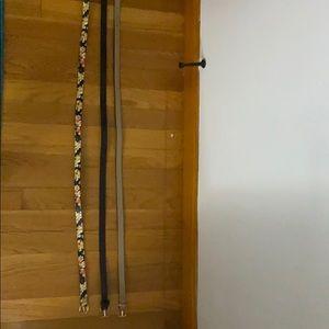 Flower belt, tan belt, black belt